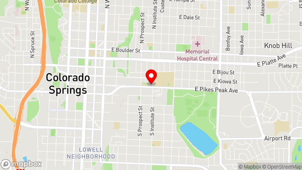 Google Map of 846 E. Pikes Peak Ave., Colorado Springs, CO 80903