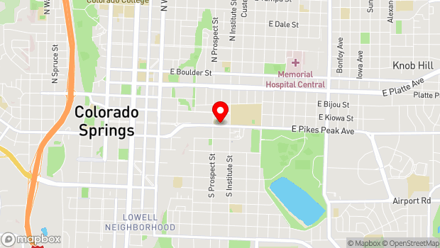 Google Map of 828 E. Pikes Peak Ave., Colorado Springs, CO 80903