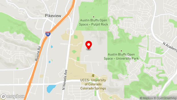 Google Map of 1250 North Campus Drive, Colorado Springs, CO 80918