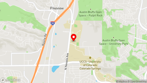 Google Map of 5225 N. Nevada Ave., Colorado Springs, CO 80918