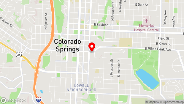 Google Map of 427 E Colorado Ave., Colorado Springs, CO 80903