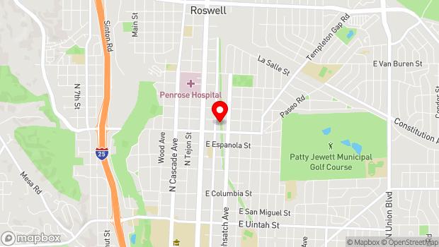 Google Map of 88.7 FM, Colorado Springs, CO 80907