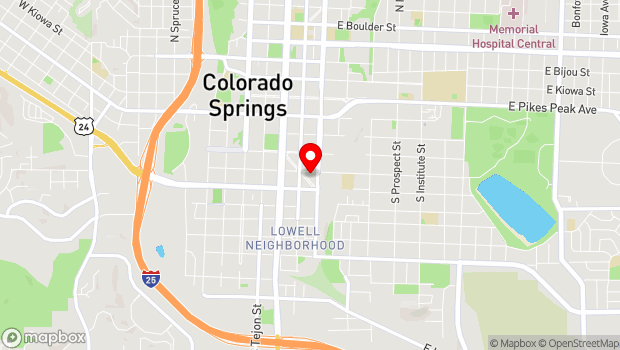Google Map of 315 E Costilla, Colorado Springs, CO 80903