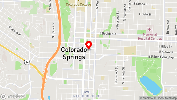 Google Map of 221 East Kiowa, Colorado Springs, CO 80903