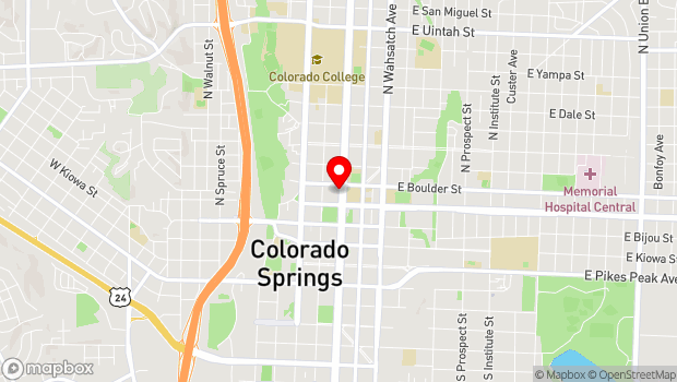 Google Map of 324 N. Nevada Ave., Colorado Springs, CO 80903