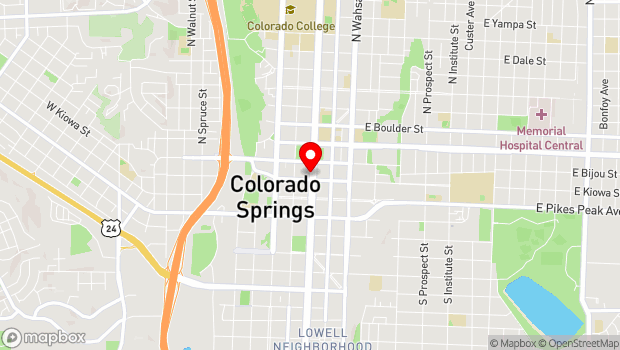 Google Map of 112 North Nevada St., Colorado Springs, CO 80903