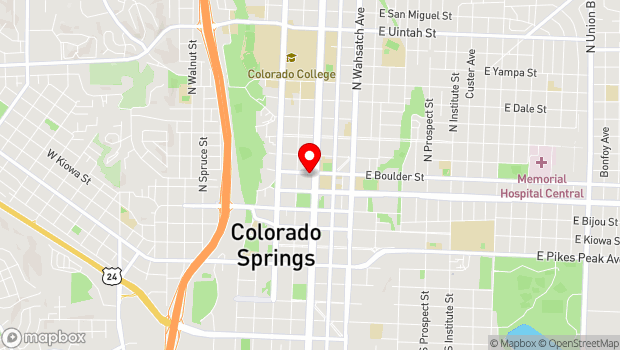 Google Map of 125 E. Boulder Street, Colorado Springs, CO 80903