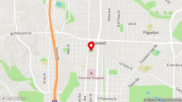 Google Map of 2727 N. Cascade Avenue, Colorado Springs, CO 80907