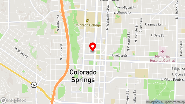 Google Map of 420 North Nevada Avenue, Colorado Springs, CO 80903