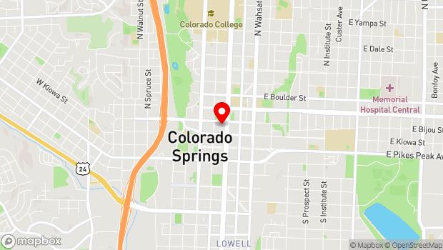 Google Map of 111 E. Bijou Street, Colorado Springs, CO 80903