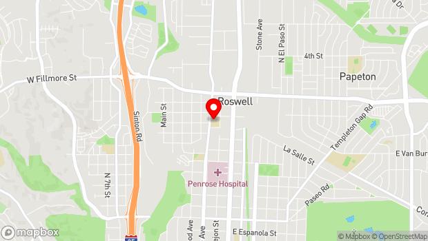 Google Map of 2727 North Cascade Ave, Colorado Springs, CO 80907