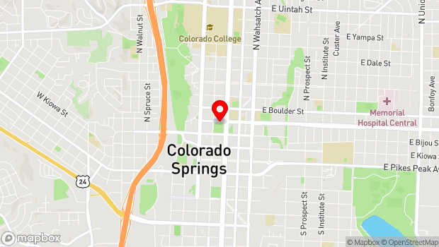 Google Map of 115 E. Platte Ave., Colorado Springs, CO 80903