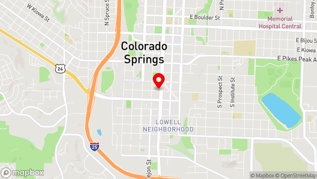 Google Map of 124 E Costilla St., Colorado Springs, CO 80903