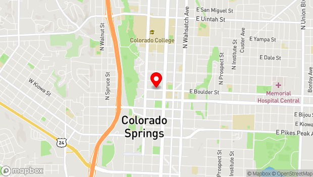 Google Map of 401 N Tejon, Colorado Springs, CO 80903