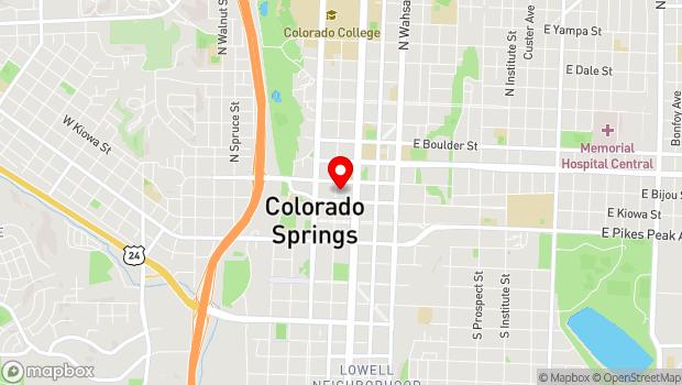 Google Map of 115 N. Tejon St, Colorado Springs, CO 80903