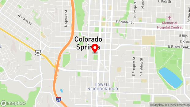 Google Map of 121 S Tejon St., Colorado Springs, CO 80903