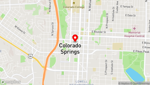 Google Map of 125 1/2 North Tejon, Colorado Springs, CO 80903