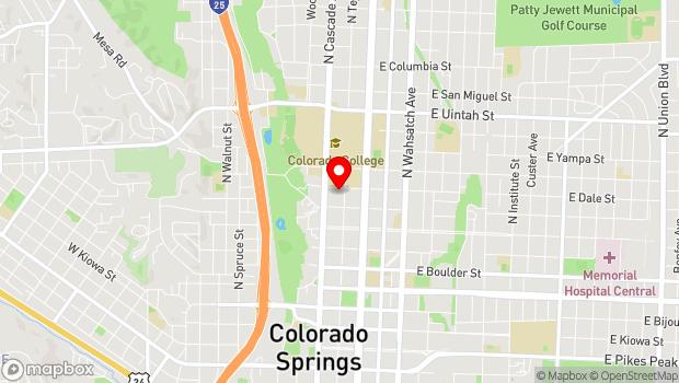 Google Map of 730 N. Tejon Street, Colorado Springs, CO 80903