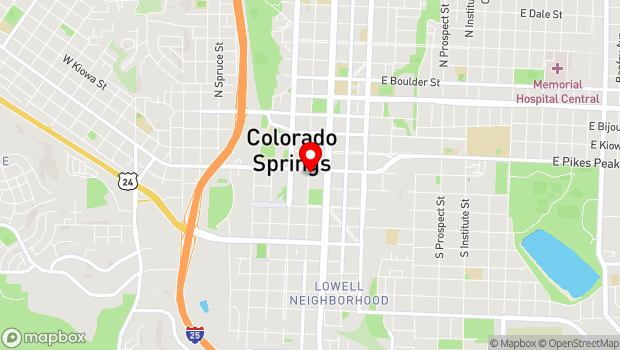 Google Map of Plaza of the Rockies, 121 S Tejon, Ste 100, Colorado Springs, CO 80903