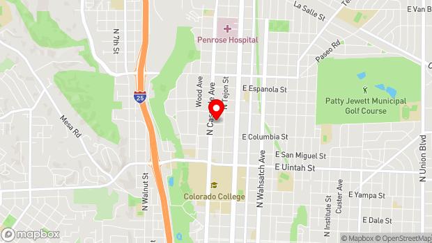 Google Map of 1515 N. Cascade Avenue, Colorado Springs, CO 80915