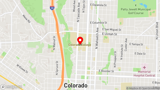 Google Map of 14 E. Cache La Poudre, Colorado Springs, CO 80903