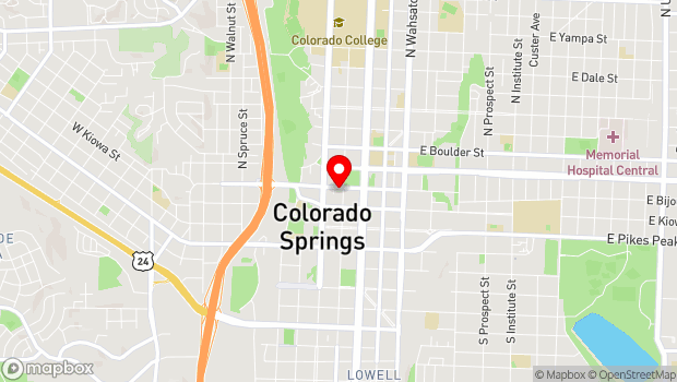 Google Map of 17 C. East Bijou, Colorado Springs, CO 80903