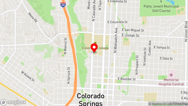 Google Map of 825 N. Cascade Ave., Colorado Springs, CO 80903
