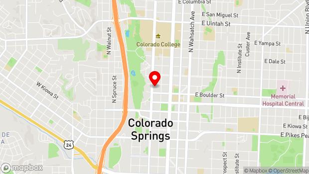 Google Map of 423 N. Cascade Avenue, Colorado Springs, CO 80903