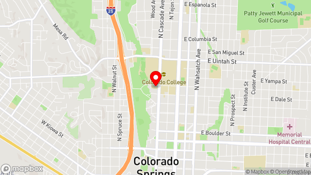 Google Map of 5 W. Cache La Poudre St., Colorado Springs, CO 80903