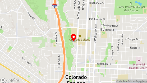Google Map of 818 Pelham Place, Colorado Springs, CO 80903