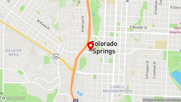 Google Map of 218 W Colorado Ave, Colorado Springs, CO 80903