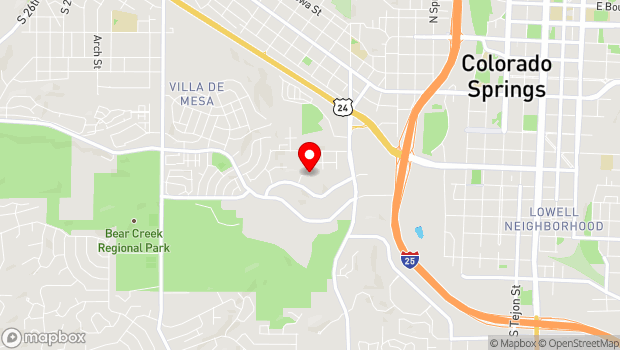 Google Map of 530 Communication Circle, Colorado Springs, CO 80905