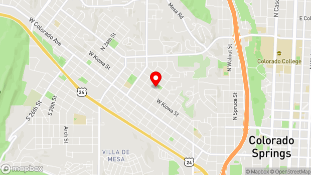 Google Map of 1628 W. Bijou St., Colorado Springs, CO 80904