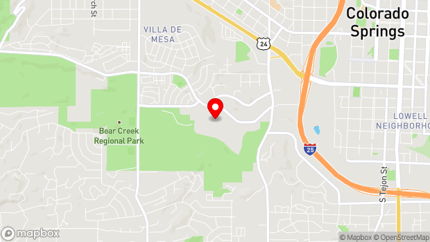 Google Map of 1045 Lower Gold Camp Road, Colorado Springs, CO 80905