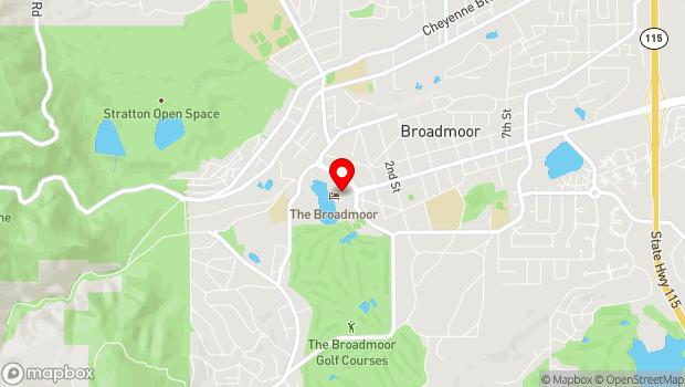 Google Map of 1 Lake Avenue, Colorado Springs, CO 80906