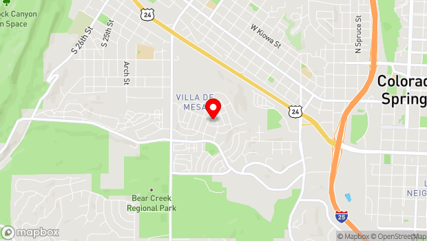 Google Map of 142 S. Raven Mine Drive, Colorado Springs, CO 80905