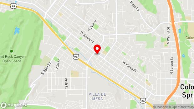 Google Map of 2015 W Colorado Ave, Colorado Springs, CO 80904