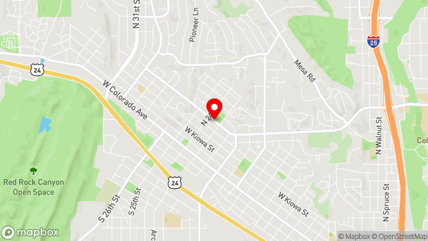 Google Map of 2310 W. Uintah St., Colorado Springs, CO 80904