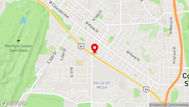 Google Map of 295 S. 21st St, Colorado Springs, CO 80904