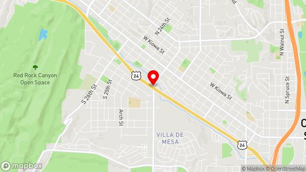 Google Map of Colorado Springs, CO 80904