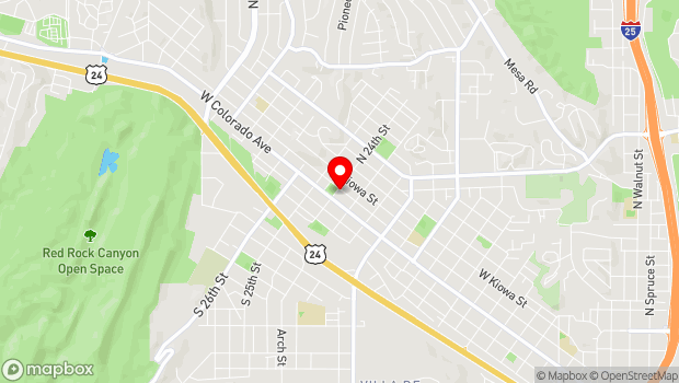 Google Map of 1 South 24th Street, Colorado Springs, CO 80904