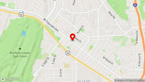 Google Map of 2330 West Colorado Ave, Colorado Springs, CO 80904