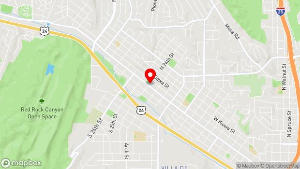 Google Map of 2332 West Colorado Avenue, Colorado Springs, CO 80904