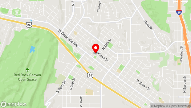 Google Map of 2418 West Pikes Peak Ave, Colorado Springs, CO 80904