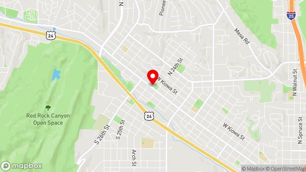 Google Map of 2418 W. Colorado Avenue, Colorado Springs, CO 80904