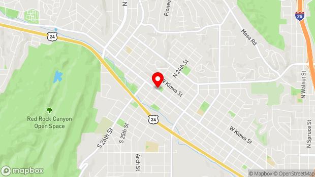 Google Map of 2408 West Colorado Avenue, Colorado Springs, CO 80904