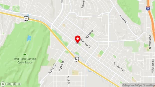 Google Map of 2428 West Colorado Avenue, Colorado Springs, CO 80904