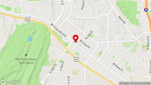 Google Map of 2510 W. Colorado Avenue, Colorado Springs, CO 80904