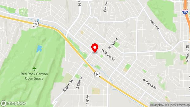 Google Map of 2513 West Colorado Ave., Colorado Springs, CO 80904