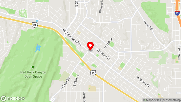 Google Map of 2524 W. Colorado Avenue, Colorado Springs, CO 80904